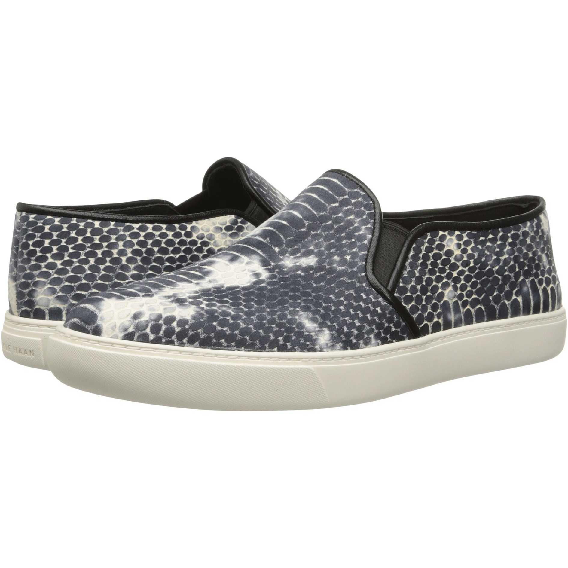 Cole Haan Bowie Slipon Sneaker Black/Vanilla Snake Print pentru dama