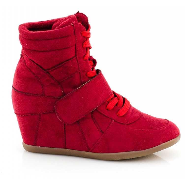 Sneakers Luckie pentru dama cu platforma rosii