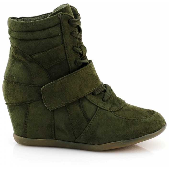 Sneakers cu platforma verzi Luckie pentru dama