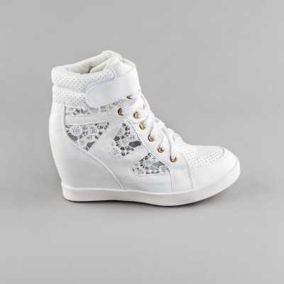 Sneakers dama Modlet albi din colectia Dareia