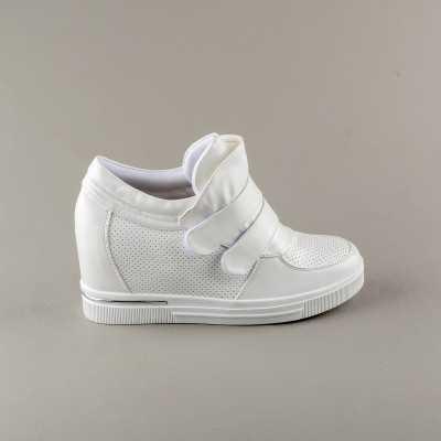 Sneakers dama Modlet albi din colectia Kelly