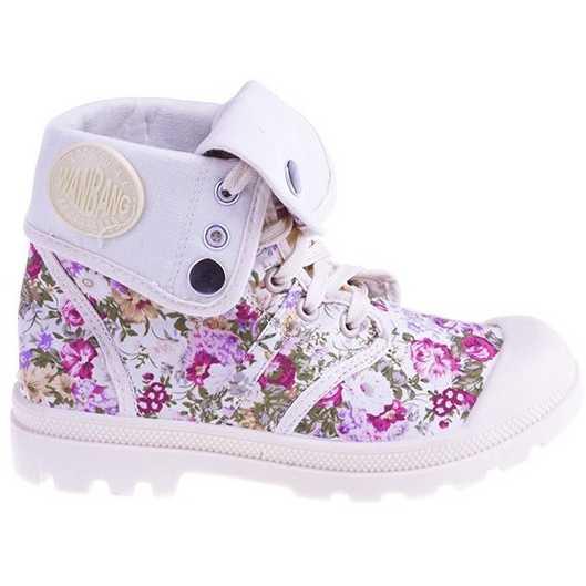 Sneakers Flower Power beige pentru dama