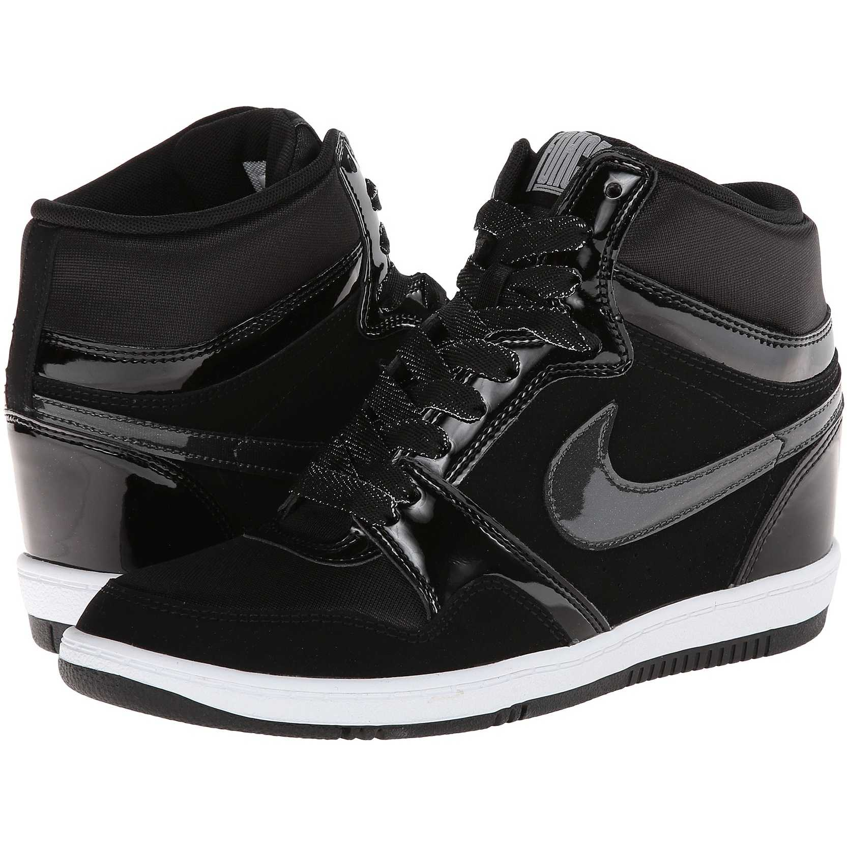 Nike Force Sky High Sneaker Wedge Black/Black/White/Anthracite pentru dama