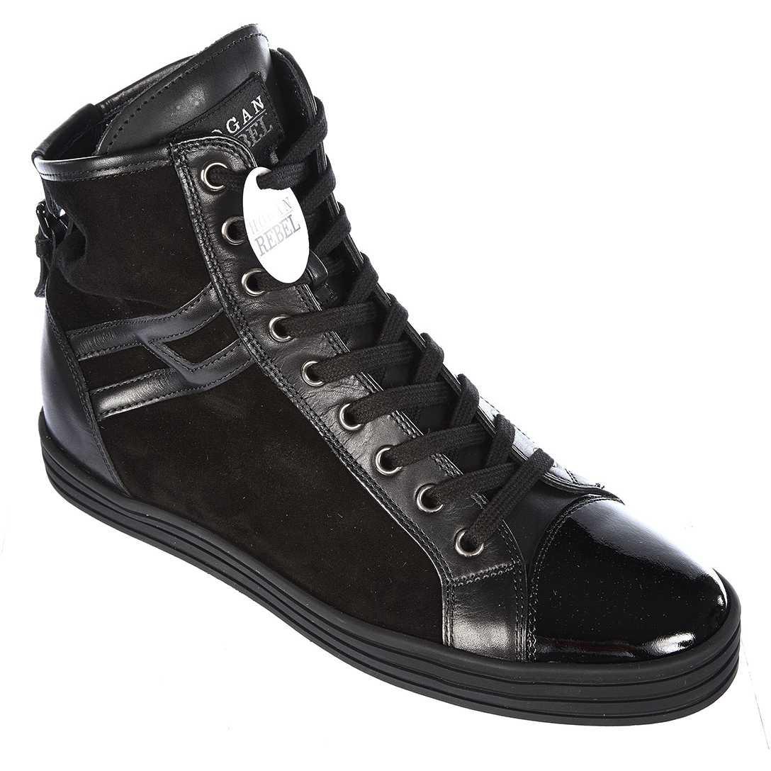 Hogan Rebel High Top Suede Sneakers Rebel Black pentru femei