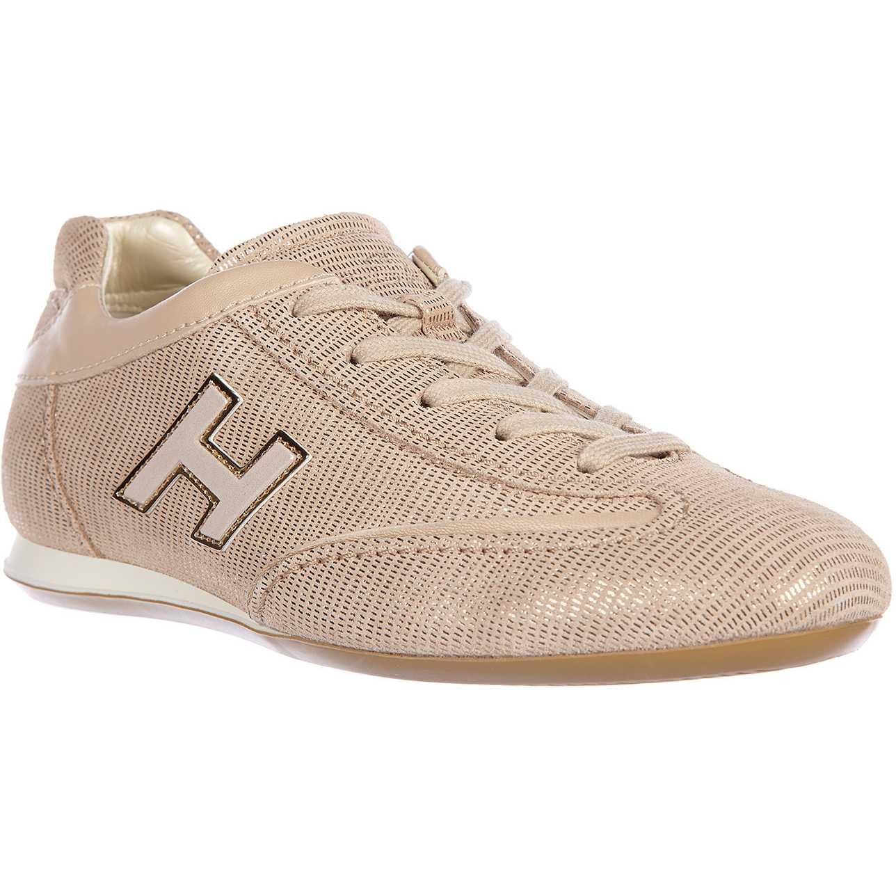 Hogan Sneakers Olympia H Flock Beige pentru femei