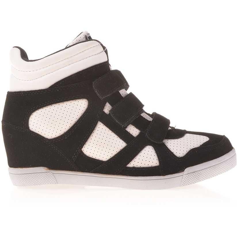Sneakers dama Georgiana negru cu alb