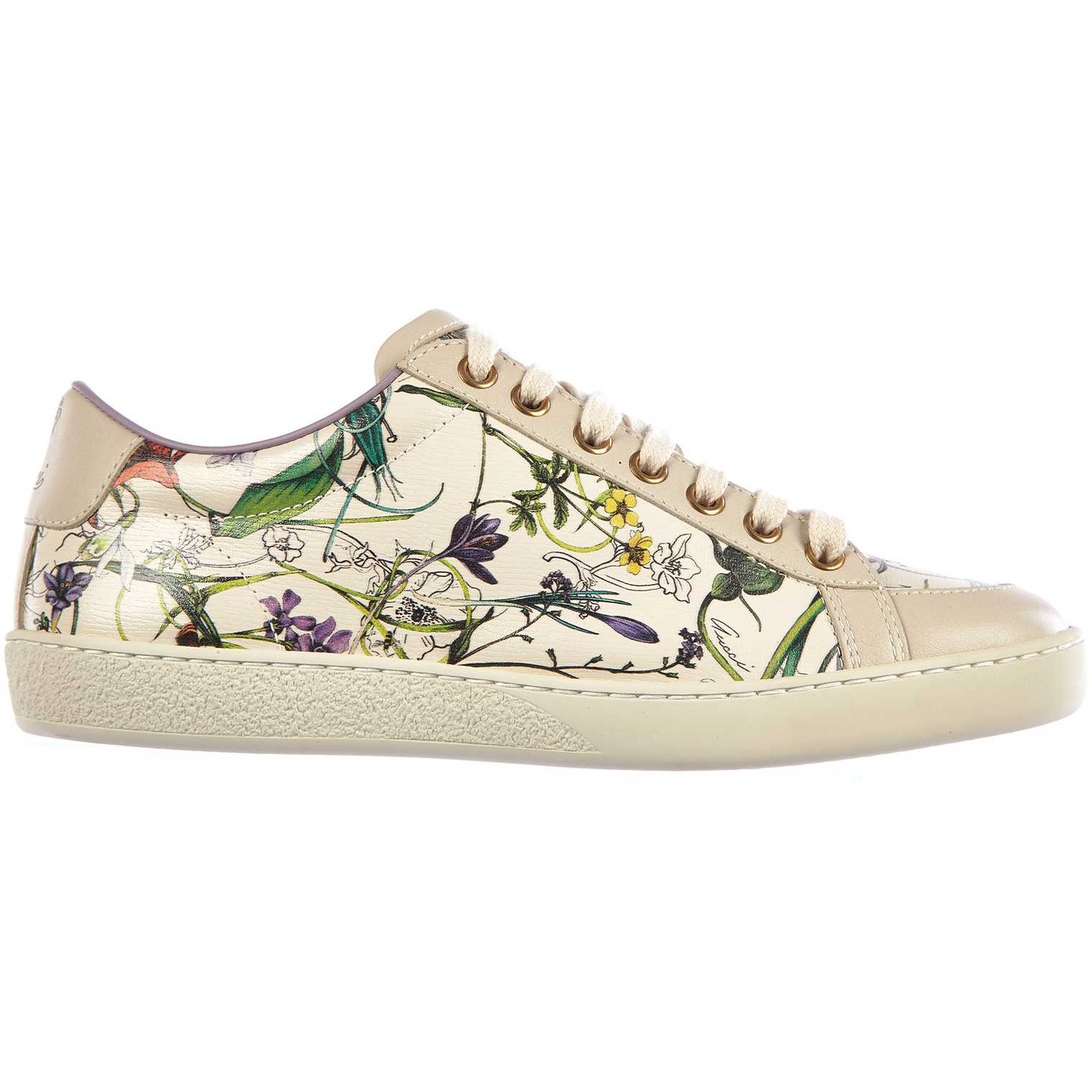 Gucci Leather Sneakers White pentru dama