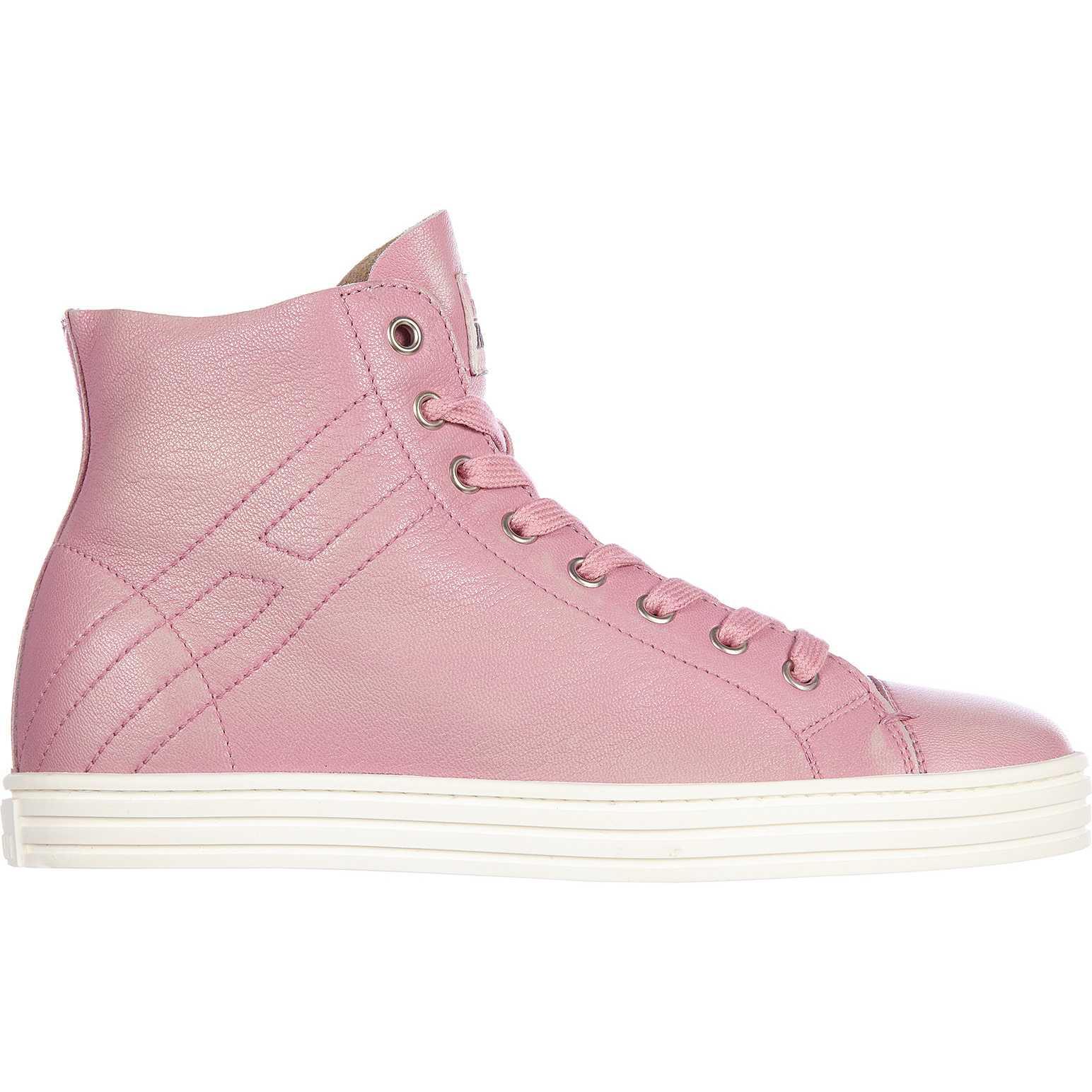 Hogan Rebel High Top Sneakers R182 Rebel Vintage Pink pentru dama