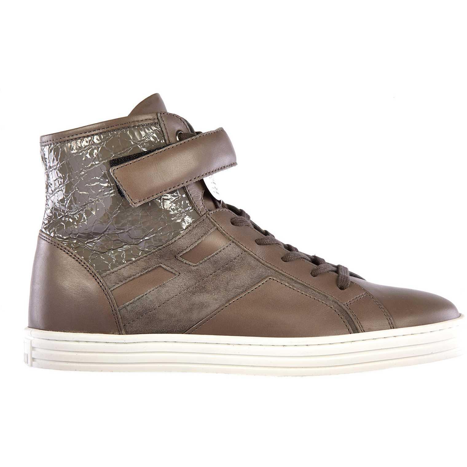 Hogan Rebel High Top Sneakers Rebel R182 Brown pentru femei