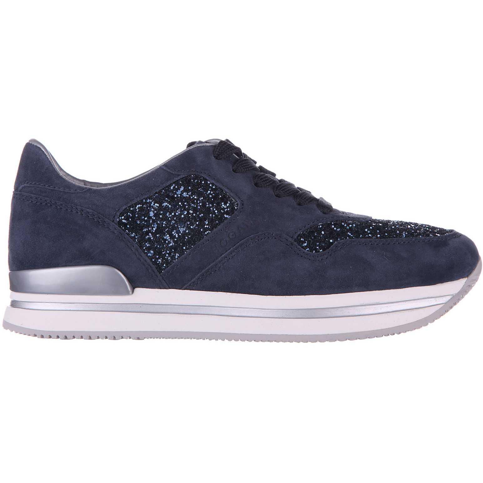 Hogan Sneakers H222 Glitter Blue pentru dama