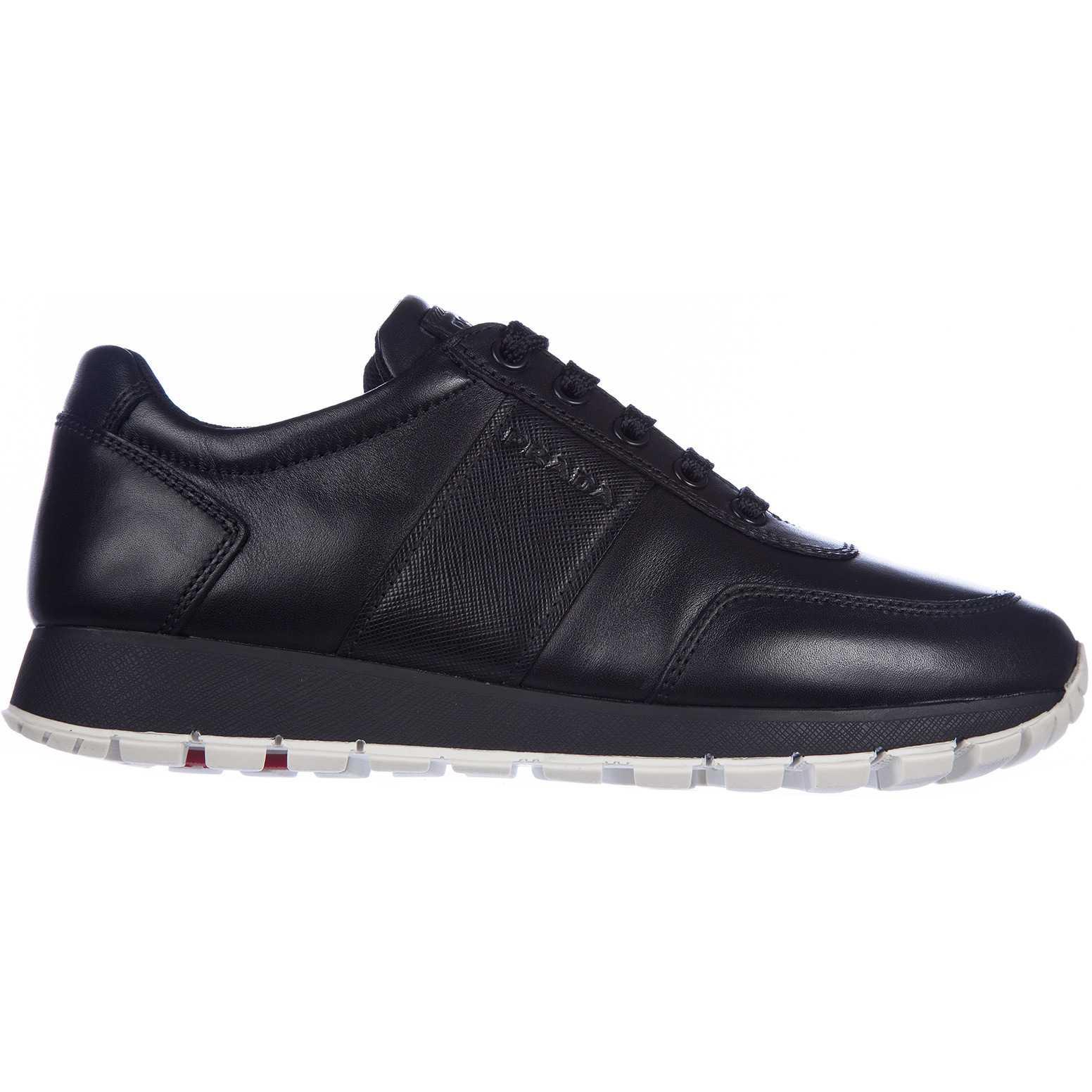 Prada Leather Sneakers Black pentru dama