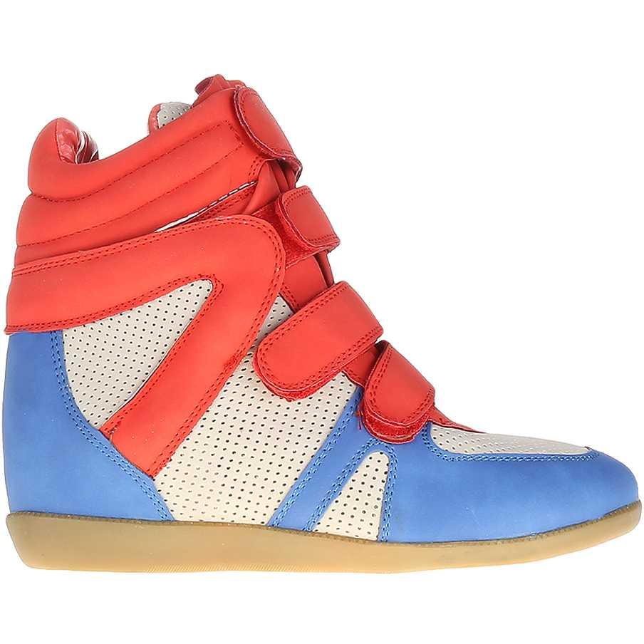 Sneakers dama Urania rosu si albastru