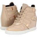 Pierre Balmain Cut Out Wedge Sneaker Beige pentru femei
