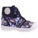 Sneakers Flower Power black pentru femei
