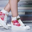 Sneakers dama Modlet albi din colectia Dinora