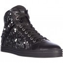Hogan Rebel High Top Sneakers R182 Colletto Imbottito Paillettes Black pentru dama