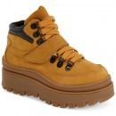 Jeffrey Campbell Top-Peak Platform Sneaker WHEAT NUBUCK LEATHER pentru dama