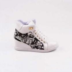 Sneakers dama Modlet albi din colectia Maura