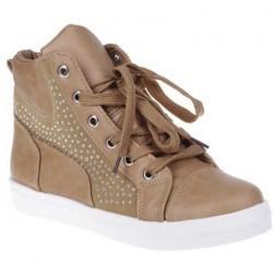 Sneakers Aby camel pentru femei