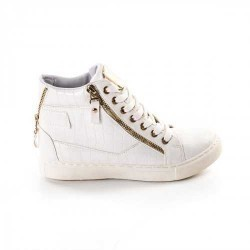 Sneakers dama Modlet albi din colectia Magda