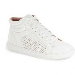 TOPSHOP Cingly High Top Sneaker Women WHITE
