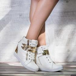 Sneakers dama Modlet albi din colectia Casas