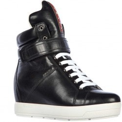 Prada High Top Sneakers Nappa Sport Black pentru dama
