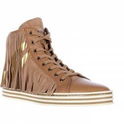 Hogan Rebel High Top Suede Sneakers Rebel Brown pentru dama