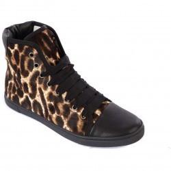 Lanvin High Top Sneakers Brown pentru femei