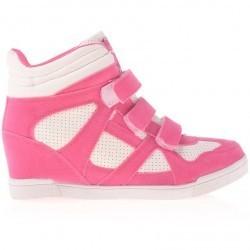 Sneakers dama Georgiana fucsia cu alb