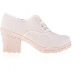 Sneakers dama Kacey alb fildes