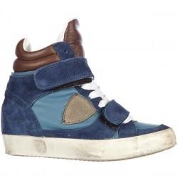 Philippe Model High Top Suede Sneakers Piaf Edith Blue pentru femei