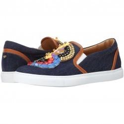 DSQUARED2 Embroidered Slip-on Sneaker Blue pentru dama