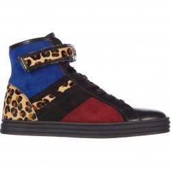 Hogan Rebel High Top Suede Sneakers Rebel R182 Strap Black pentru dama