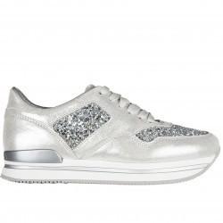 Hogan Sneakers H222 Glitter Silver pentru femei
