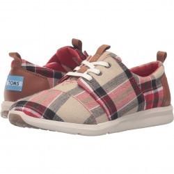 TOMS Del Rey Sneaker Red/Warm Tan Plaid pentru femei